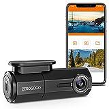 Zerogogo RW100 WiFi Wireless Dash Cam Full HD 1080P Car Dashcam Camera w/Sony Sensor, Magnetic Bracket, Night Vision, Super Capacitor, G-Sensor, 360 Degree Rotatable Lens Dashcams for Cars