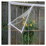AWSAD Lona Transparente Impermeable para Sellar Ventanas, Tabletas Plástico Que Sellan La Película de Aislamiento Resistente Viento y Desgaste, 24 Tamaños (Color : Clear, Size : 1.7x0.9m)