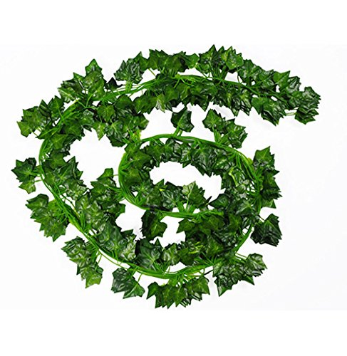 LJY - Piante artificiali di edera rampicante, 16 pezzi, utili come ghirlande per feste nuziali, decorazioni per pareti e giardini o decorazioni natalizie
