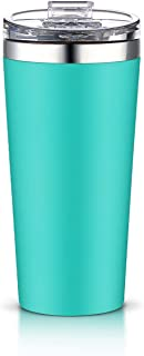 AA Products 16oz Tumbler-Vacuum Insulated Double-Walled 18/8 Stainless Steel Water Bottle/Travel Coffee Mug For Cars, Home,Office,School-Blue