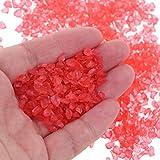 BraveWind 1 bolsa de 5 mm de cristal teñido gravas trituradas acuario, jarrón de piedras preciosas, peces, tanque de tortuga, paisaje, decoración de fondo de piedra de cristal, color rojo