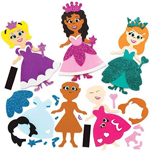 Baker Ross Kit Calamita Principessa Mix&Match, ideale per bambini, artigianato e lavoretti creativi (confezione da 8)