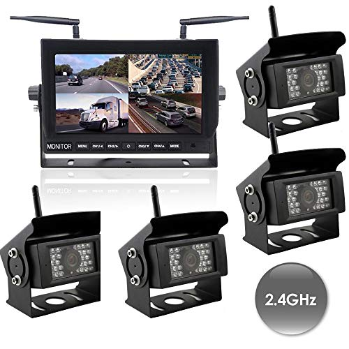 Why Choose Wireless 2-4 Channel Dash Cam. 2-4 Cams, Heavy Duty, 150 Degrees Wireless Range (with 3 C...