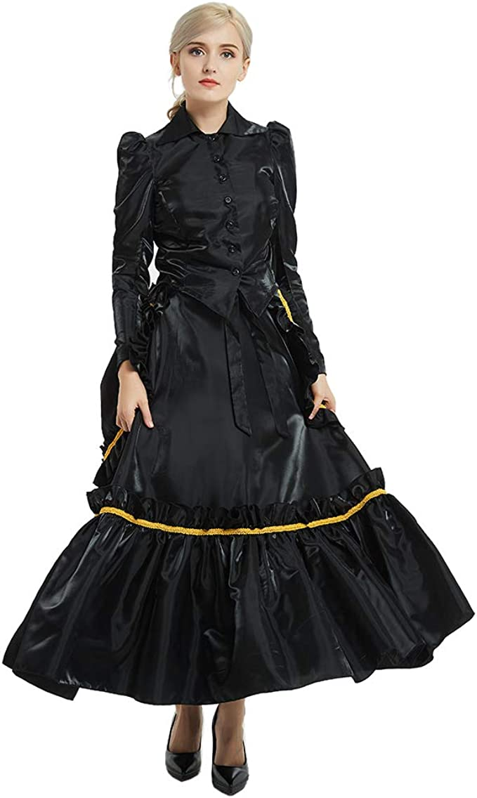Steampunk Dresses   Women & Girl Costumes GRACEART Womens Steampunk Costume Dickens Gothic Victorian Dress Vampire Ball Gown  AT vintagedancer.com