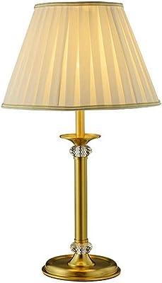 Lampada da comodino per camera da letto, cristallo caldo Lampada da tavolo moderna semplice per soggiorno, camera da letto, lettura, lampada in rame creativa E27