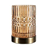 Pauleen 48126 Crystal Elegance Tischleuchte Glaslampe max25W E27 Glas/Bernstein/Messing Tischlampe 230V