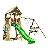 MASGAMES   Parque Infantil Torre Belvedere XL   con Columpio Doble de Dos plazas   Plataforma a 150 cm de Altura  