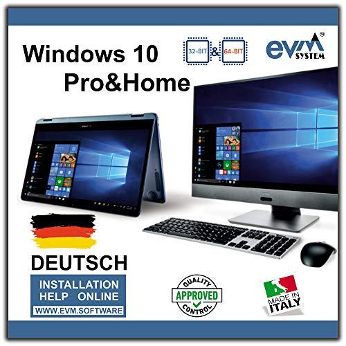 EVM ™ - Windows 10 Pro & Home 32- und 64-Bit, DEUTSCH