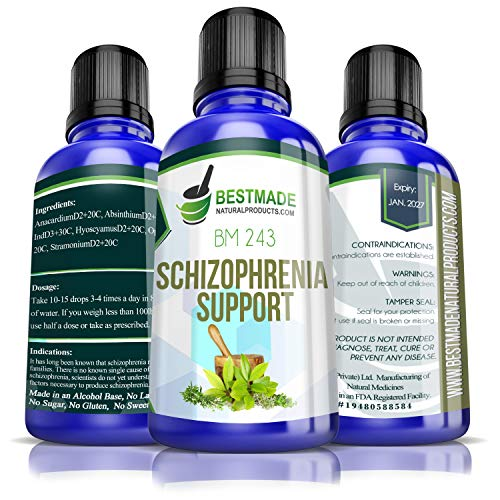 Schizophrenia Support BM243, A Natural Remedy to Help The Body Cope with Hallucinations, Delusions, Disorganized Speech and Behaviours