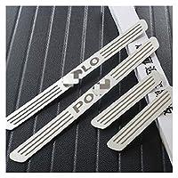 スカッフプレート VWのためのOLO 2011 2012 2013 2014 2015フォルクスワーゲンポロのためのアクセサリーのためのステンレス鋼のドアシルプレートの車のスタイリングのための