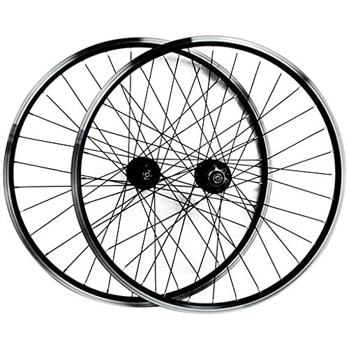 26/29 Pulgadas Juego De Ruedas De Bicicleta Delantera y Trasera Aleación de Aluminio llanta de Doble Pared Liberación Rápida Freno Disco/Freno V 7 8 9 10 11 Velocidad ( Color : Black , Size : 29in )