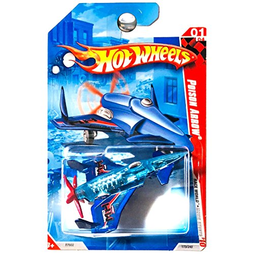 2010 HOT WHEELS RACE WORLD MOVIE STUNTS 01/04 BLUE POISON ARROW