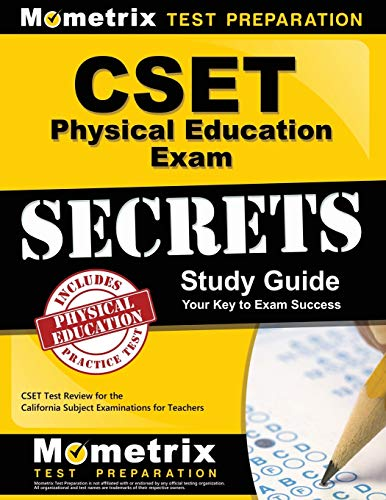 Compare Textbook Prices for CSET Physical Education Exam Secrets Study Guide: CSET Test Review for the California Subject Examinations for Teachers Mometrix Secrets Study Guides  ISBN 9781609715731 by CSET Exam Secrets Test Prep Team