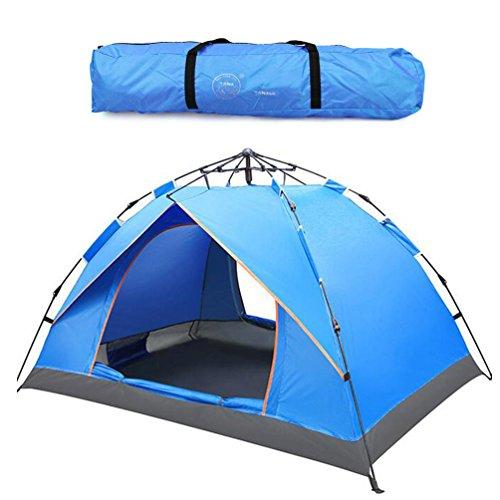 Outdoor 2-3 Person Pop Up Zelte Sport Camping Wandern Reisezelt mit Tragetasche (Blau)