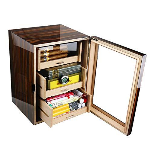 GFITNHSKI Refrigeratore di sigari, umido del sigaro elettrico, armadietto di sigaro di temperatura, armadietto idratante regolabile Humidor di sigaro elettrico, scatola di sigaro rivestito di cedro sp