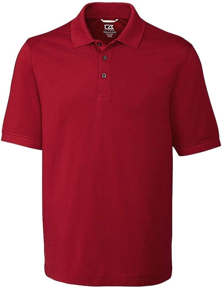 Cutter & Buck mens 35+upf, Short Sleeve Cotton+ Advantage Polo Shirt
