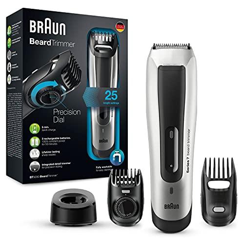 Braun Rasoio Barba Elettrico BT5090 Regolabarba Uomo, Tagliacapelli Con 25 Impostazioni di Lunghezza