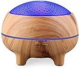 YZHM 300ml Aroma humidificador, de Madera Clara con un estéreo Bluetooth Parece difusor de Aceite Esencial, la Humedad de la Piel para el Yoga, Gimnasio, humidificadores