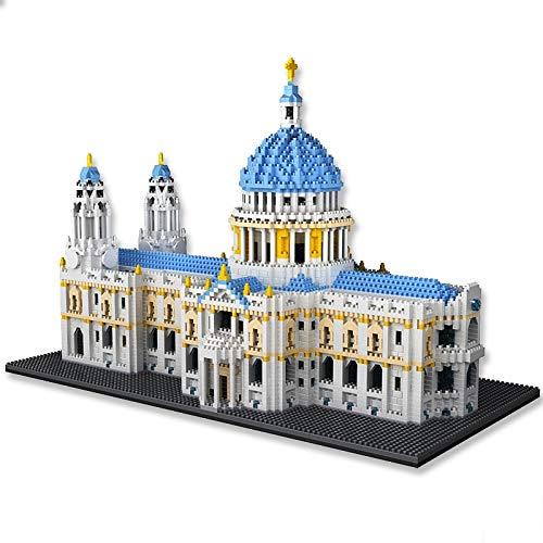 Bloques de construcción 7050 + Uds.modelo De Iglesia De La Ciudad De Arquitectura Mundial Diy Castillo De Diamantes Catedral De San Pablo Bloques De Construcción Kit De Ladrillos Juguetes Para Niños