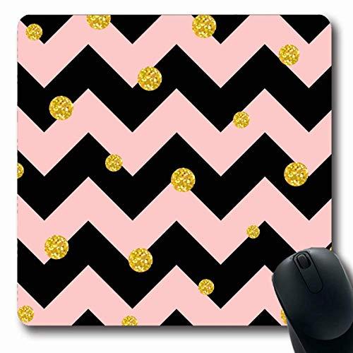 Jamron Mousepad OblongDesign Gro脽e Trendy Pink Polka Rich Papier Textur Punkt Abstrakte Chevron Hintergrund Texturen Gr枚脽e Mess rutschfeste Gummi Mauspad B眉ro Computer Laptop Spiele Mat