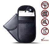 SOHDY 2 X Caja de Bloqueo de señal RFID, Bolsa de Bloqueador de señal de Llave para automóvil | Cuero de la PU | Bolsos antirrobo de la protección de Faraday/NFC de la protección del teléfono Celular