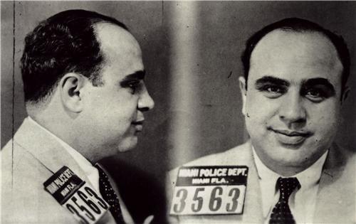 ConversationPrints AL Capone Mug Shot Landscape Glossy Poster Picture Photo Mugshot Mob Mafia chi