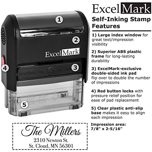 Custom Stamp - Return Address Stamp - Self Inking Stamp Design 4 Photo #5
