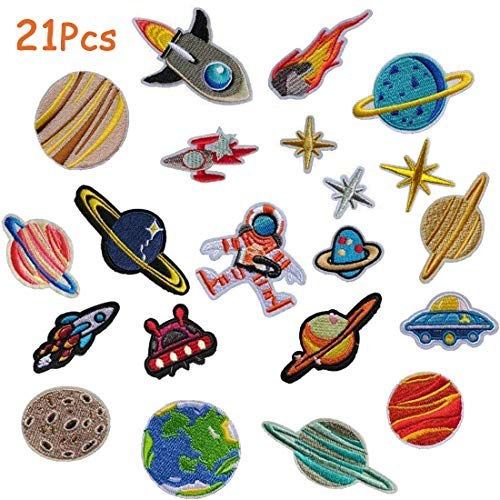 Parches bordados planchar diseño astronauta espacial