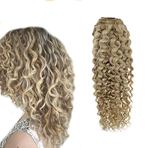 Hetto Blonde and Gloden Blonde Kinky Curly Hair Extensions