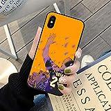 XMYP Funda para iPhone 12, color negro Mamba Kobe Funda para teléfono móvil, silicona suave, flexible, TPU para fans de baloncesto Lakers teléfono para iPhone 12/12 Mini/12 Pro/12 Pro Max F- 12 Mini