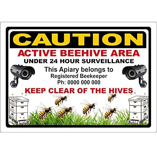 CDYSKJCO - Señal de advertencia de aluminio para cámara de vigilancia, placa de aviso para puerta de granja