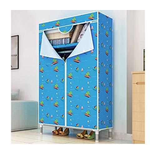 LJP armadio semplice armadio camera da letto Oxford panno portatile armadio 25mm tubo d'acciaio audace telaio in acciaio armadio armadio armadio (colore: E)