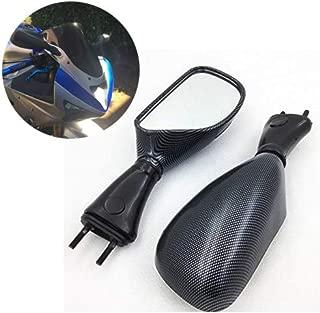 XKMT-Compatible With 1998-2002 Kawasaki Ninja Zx6R 1998-2003 Zx9R 2006-2008 650R Carbon mirrors Replacement [B00YWBU49U]