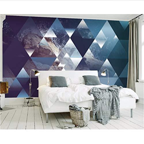 costumbre cualquierfoto 3d papel tapiz mural mural 3d papel tapiz nórdico fantasía paisaje triangular perspectiva fondo pared-350X250CM