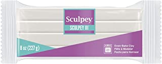 Sculpey III® Polymer Oven-Bake Clay, Translucent, Non Toxic, 8 oz. bar, great for modeling, sculpting, holiday, DIY, mixed...