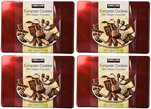 Cos-Sl Kirkland European Cookies with Belgian Chocolate 15 Variety Flavors Of 49.4 Ounce (Pack of 1) Pack of 4