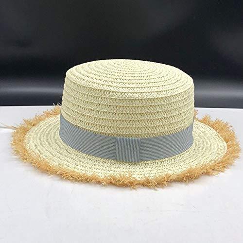 sombrero de paja de ala ancha para niñas sombrero para el sol ...