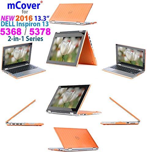 mCover Carcasa Dura/Fundas duras Solo para DELL Inspiron 13 5000 (5368/5378) Serie 2 en 1 Portátil (Naranja 5368/5378)