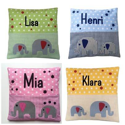 Kirschkernkissen 20x20 cm personalisiert mit ihrem eigenen Wunschnamen in 4 Farben