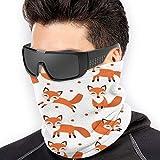 Cute Fox Seamless Pattern Unisex Fleece Neck Warmer Face Warmer Neck Tube Neck Scarf Neck Polainas