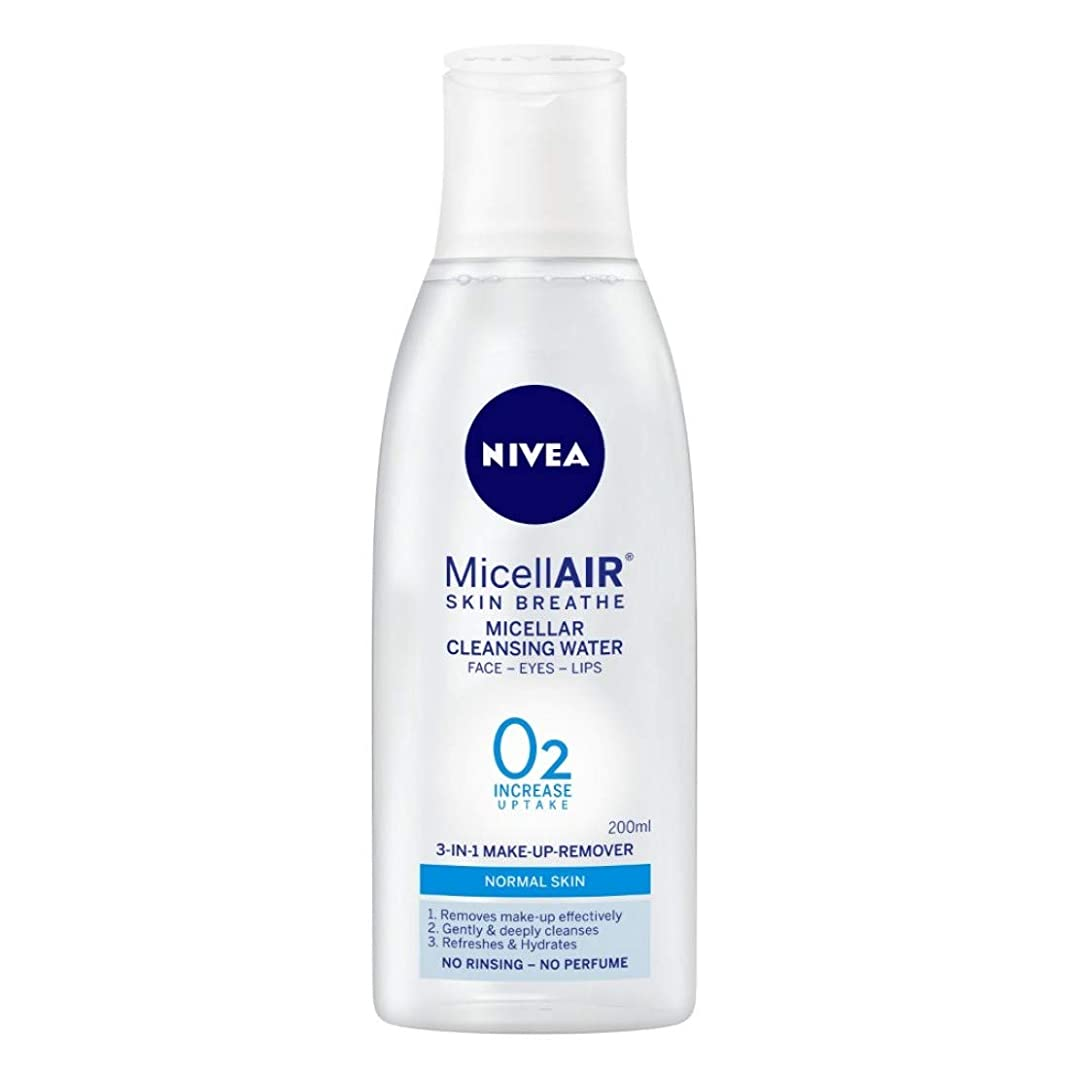 ロボット火うまれたNIVEA Micellar Cleansing Water, MicellAIR Skin Breathe Make Up Remover, 200ml