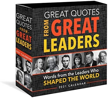 2021 Great Quotes from Great Leaders Boxed Calendar 365 Inspirational Quotes From Leaders Who product image