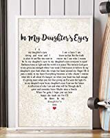 "Mattata Decor Gift In My Daughter's Eyes Song 歌詞ポートレートポスタープリント 16"" x 24"""