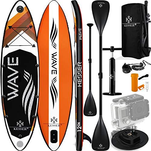KESSER® Aufblasbare SUP Board Set Stand Up Paddle Board   366x77x15cm 12.0'   Supboard Premium...