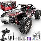 1/14th Scale 4X4 High-Speed RC Car-- Our four-wheel-drive high-speed RC monster trucks are powered with superb and fast 2 brushed RC 380 motor in an unceasingly efficient drivetrain. With LED Headlights that driving unobstructed up to 40km/h even in ...