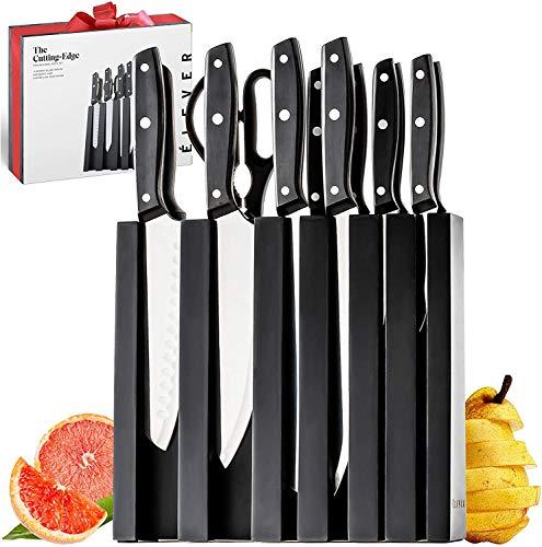 Knife Set, Knife Block Set, 13 Kitchen Knives with Knife Block, Black Knife Set with Sharpener, Chef Knife, Steak Knife Set, Bread Knife, Santoku knife. Stainless Steel Kitchen Knife Sets For Kitchen
