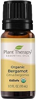 Plant Therapy Organic Bergamot Essential Oil 10 mL (1/3 oz) 100% Pure, Undiluted, Therapeutic Grade