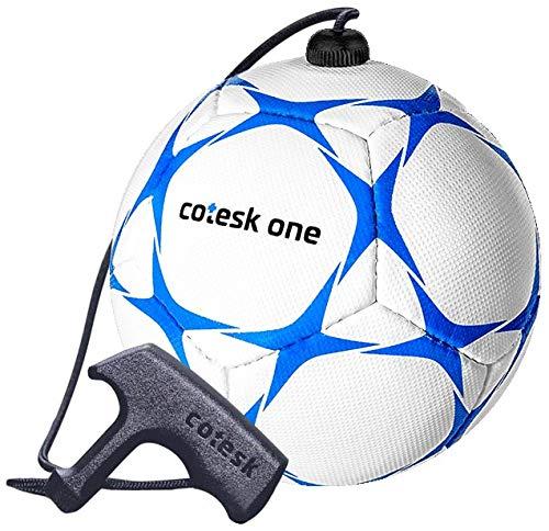 cotesk one (Blau) - Trainingsball mit Schnur und Griff