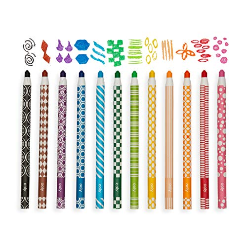 Ooly Color Appeel Crayon Sticks - Set of 12 Peelable Colors