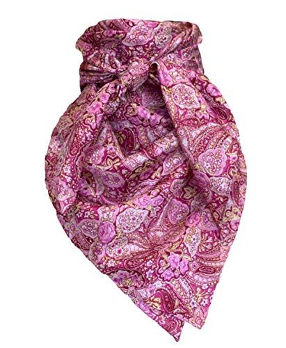 Wyoming Traders Cowboy Paisley Pink Silk Wild Rag